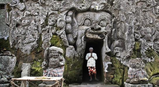 Entrance to the Elephant Cave at Goa Gaja